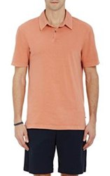 James Perse Jersey Polo Shirt Orange Size 0 Xs