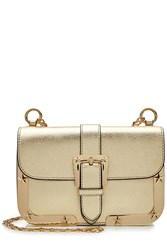 Red Valentino Leather Shoulder Bag With Gold Tone Frame