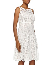 Taylor Sleeveless Floral Lace And Bow Cocktail Dress Ivory