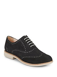 Cole Haan Gramercy Suede Wingtip Oxfords Black