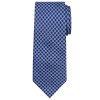 Chester By Chester Barrie Grid Flower Silk Tie Navy Purple