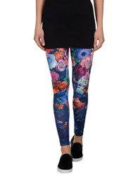 Maison Espin Trousers Leggings Women Bright Blue