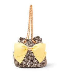 Betsey Johnson Hopelessly Romantic Bucket Bag Yellow