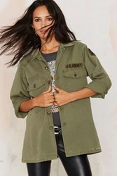 Nasty Gal After Party Vintage Vanessa Army Jacket