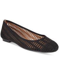 French Sole Fs Ny Quartz Perforated Flats Women's Shoes Black