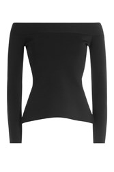 Roland Mouret Off The Shoulder Top Black