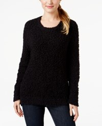 Calvin Klein Jeans Crew Neck Eyelash Sweater Black
