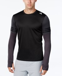 Adidas Men's Climalite Long Sleeve Running Shirt Black