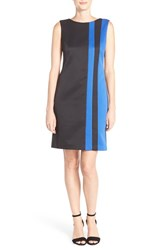 Women's Ellen Tracy Colorblock Sleeveless Pique Shift Dress