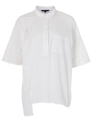 French Connection Warrior Check Shirt Summer White