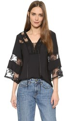Nanette Lepore Wind Song Top Black