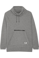 Nike Cotton Blend Jersey Turtleneck Sweatshirt Gray