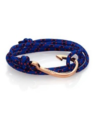 Miansai Hook Rope Wrap Bracelet Rose Goldtone Royal Blue