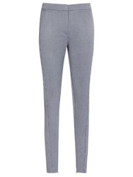 Reiss Darla Skinny Textured Trousers Light Blue