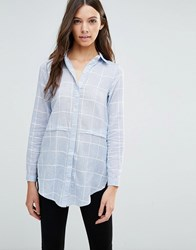 Influence Stripe Shirt Blue