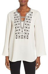 Nic Zoe Women's Solstice Embroidered Tunic Top