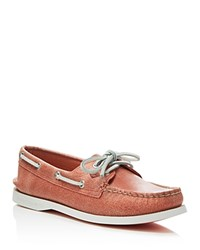 Sperry A O 2 Eye White Cap Boat Shoes Coral