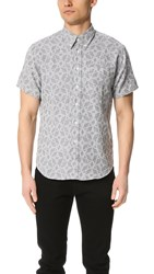Billy Reid Tuscumbia Short Sleeve Shirt Grey