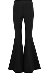 Ellery Sinuous Stretch Crepe Flared Pants Black