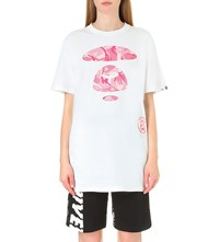 Aape By A Bathing Ape Logo Print Stretch Cotton T Shirt White