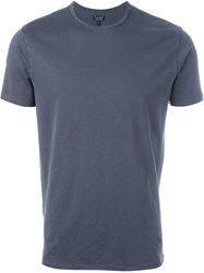 Armani Jeans Logo Patch T Shirt Blue