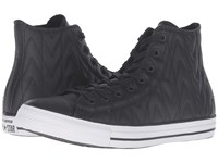 Converse Chuck Taylor All Star Quilted Leather Hi Black White Black Athletic Shoes