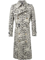 Dresscamp Animal Print Trench Coat Brown