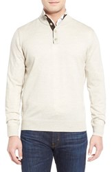 Men's Thomas Dean Merino Wool Sweater Oat