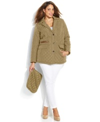 Jones New York Plus Size Quilted Packable Jacket With Travel Bag
