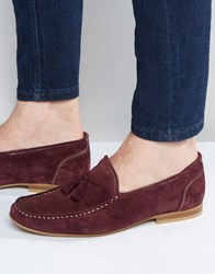 Asos Loafers In Suede Purple