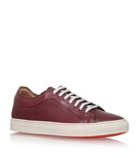 Paul Smith Nastro Leather Sneakers Male Wine