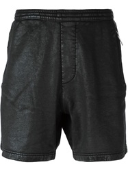 Dsquared2 Leather Effect Track Shorts Black