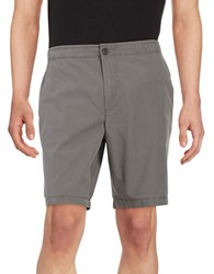 Black Brown Lightweight Cotton Shorts Muted Charcoal