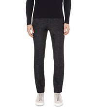 Reiss Grip Slim Fit Cotton Blend Trousers Midnight Navy