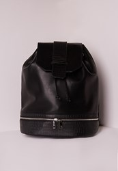 Missguided Minimal Detail Rucksack Black