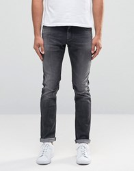 Sisley Super Skinny Distressed Jeans In Washed Black Washed Black
