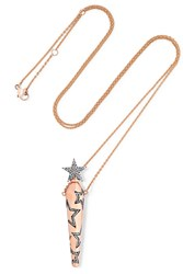 Diane Kordas Amulette 18 Karat Rose Gold Diamond Necklace
