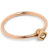Annina Vogel 9Ct Rose Gold And Old Cut Diamond Ring