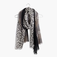 Madewell Print And Pattern Scarf Antique Cream