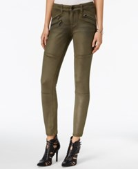 William Rast Faux Suede Moto Pants Olive Night