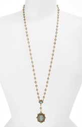 Virgins Saints Angels Beaded Rosary Necklace Nordstrom Exclusive Gold Blk Diamond Pacific Opal