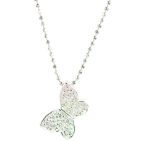Jools By Jenny Brown Cubic Zirconia Butterfly Pendant Necklace Silver