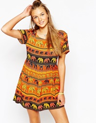 Tiara Beach Dress Orangeelephants