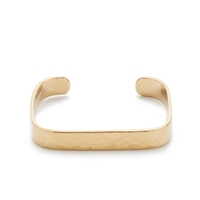 J.Crew Wide Hammered Square Cuff Bracelet Gold