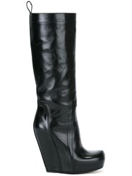 Rick Owens Wedge Boots Black