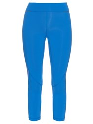 Alala Captain Mesh Insert Cropped Performance Leggings Blue