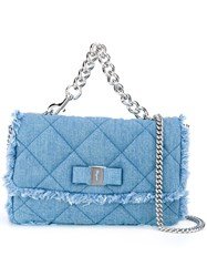 Salvatore Ferragamo 'Jennie' Denim Shoulder Bag Blue