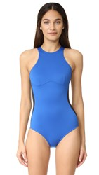 Stella Mccartney Iconic Colorblock One Piece Black Royal Blue