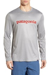 Patagonia Men's 'Capilene Daily' Base Layer Graphic T Shirt Feather Grey