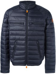 Save The Duck Zip Pocket Padded Jacket Blue
